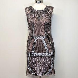 Aiden Mattox Gatsby Beaded Dress